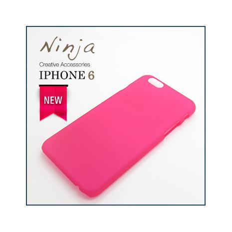 【東京御用Ninja】iPhone 6 (4.7吋) 精緻磨砂保護硬殼(桃紅色)