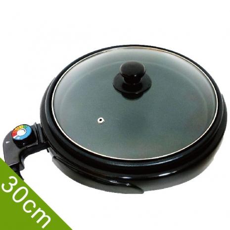 LAPOLO 藍普諾桌上型低脂圓烤盤 LA-9121附玻璃鍋蓋 直徑30cm