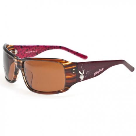 PLAYBOY-時尚太陽眼鏡(咖啡色)