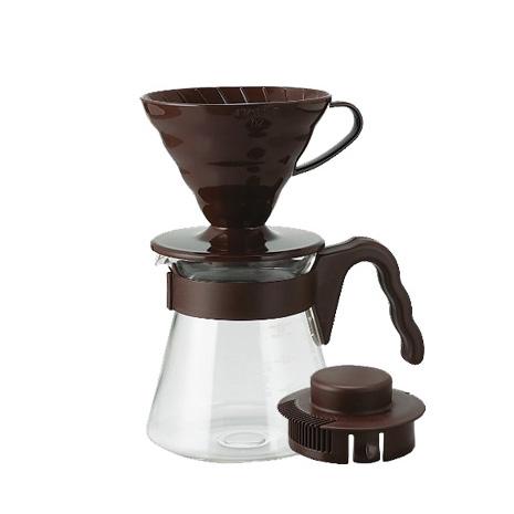 HARIO V60棕色濾泡咖啡壺組1~4杯 700ml VCSD-02CBR