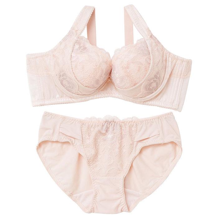【內衣瞎拼】樸塑II代胸罩內褲組 B-E (淺膚)40D-L