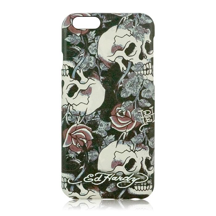 【17雙12】Ed Hardy iPhone 6 / 6s Plus (5.5吋)保護殼-骷髏玫瑰
