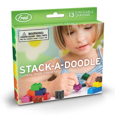 [Fred & Friends]Stack-A-Doodle積木造型無毒蠟筆組(13色)