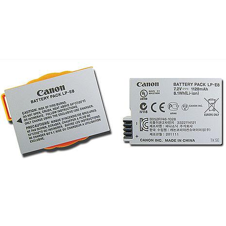 Canon LP-E8 相機專用原廠鋰電池(平輸無吊卡) Canon EOS 700D 550D Kiss X4 600D 650D