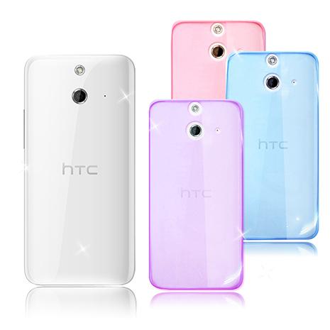 【VXTRA 】HTC One E8 超完美 清透0.5mm隱形保護套微光透紫