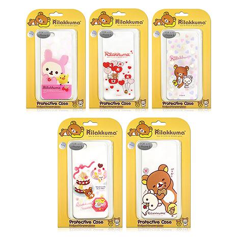 【日本授權正版】懶懶熊/拉拉熊/Rilakkuma iPhone 6s/6 4.7吋 i6 最新款 透明保護殼心心熱汽球