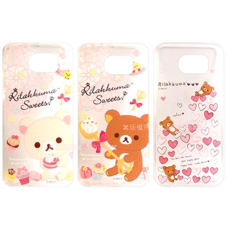 SAN-X授權正版 Samsung Galaxy S6 G9200 Rilakkuma/拉拉熊/懶懶熊 透明軟式保護套 手機殼(甜蜜款)繽紛愛心
