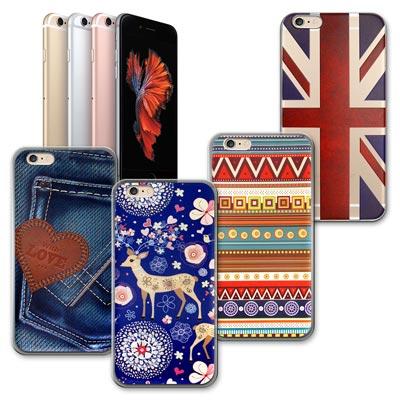 VXTRA iPhone 6/6s 4.7吋率性風格 彩繪軟式保護殼 手機殼愛戀牛仔