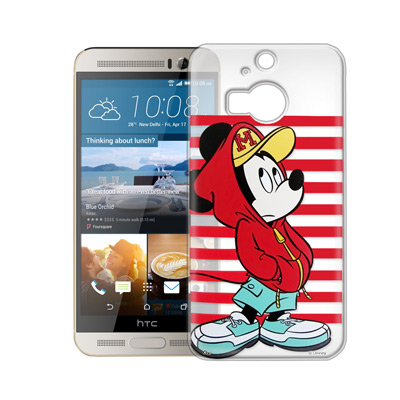迪士尼授權正版 HTC One M9+ M9 Plus透明軟式保護殼 手機殼(帽T米奇)