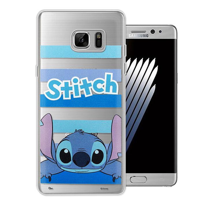 迪士尼授權正版 Samsung Galaxy S7 edge 5.5吋 大頭招呼系列軟式手機殼(史迪奇)
