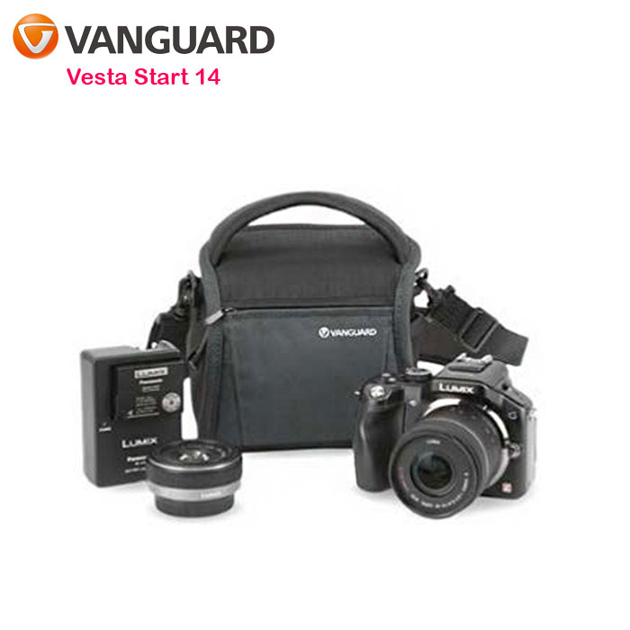 VANGUARD 精嘉 唯它黑匣 14 攝影側背包 Vesta Start 14-贈SWALLOW MINPOD桌上型腳架(不挑色)