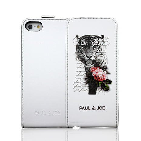 PAUL&JOE iPhone 5/5S 下掀式皮套-Tiger