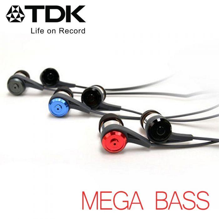 TDK CLEF-P2 -MEGA BASS- 迫力重低音立體聲耳機紅色