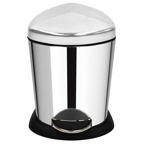 家簡塵除-金盾型不鏽鋼腳踏式垃圾桶(5L)