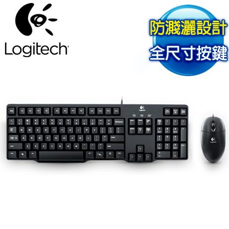 Logitech羅技 MK100 有線鍵盤滑鼠組(二代)