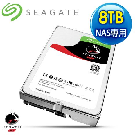 Seagate 希捷 那嘶狼 8TB 7200轉 256MB SATA3 NAS專用硬碟ST8000VN0022-3Y