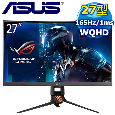 ASUS 華碩 ROG SWIFT PG27VQ 27型 2K曲面電競螢幕
