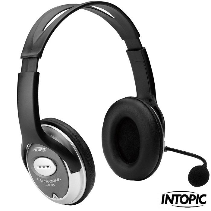 INTOPIC 廣鼎-頭戴式耳機麥克風 JAZZ-358