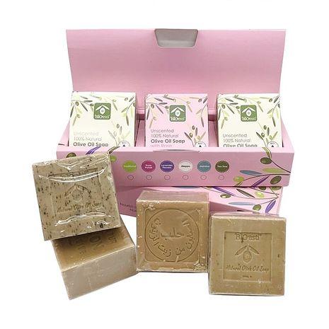 【希臘BIOESTI】高純度頂級橄欖馬賽皂禮盒3入任選送即期按摩皂2入玫瑰橄欖*3