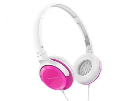 Pioneer 馬卡龍色系 迷你耳罩式耳機 (粉紅色) SE-MJ502 公司貨附保卡保固一年