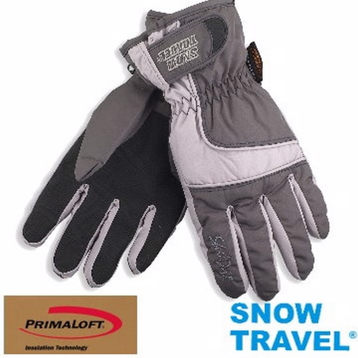 [SNOW TRAVEL]軍用SKY-DRY+PRIMALOFT-GOLD超保暖防水透氣手套/AR-57/灰色灰色L