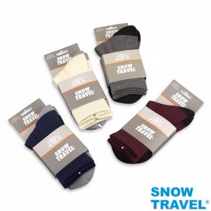 【SNOW TRAVEL】高級美麗諾羊毛襪AR-59 (1入) M號深藍M