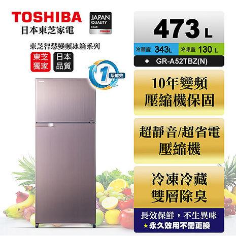 TOSHIBA 東芝473公升雙門變頻冰箱 GR-A52TBZ(N)