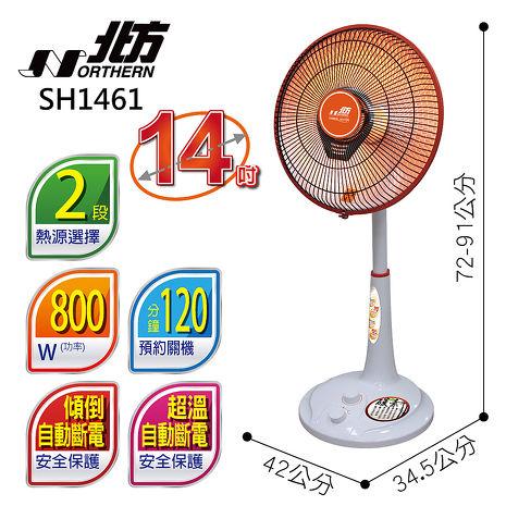 【北方】北方14吋碳素電暖器 SH1461