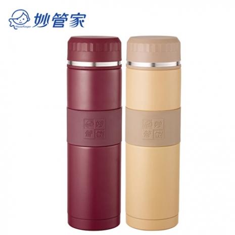 【妙管家】316超級不鏽鋼360ml真空保溫杯 紅