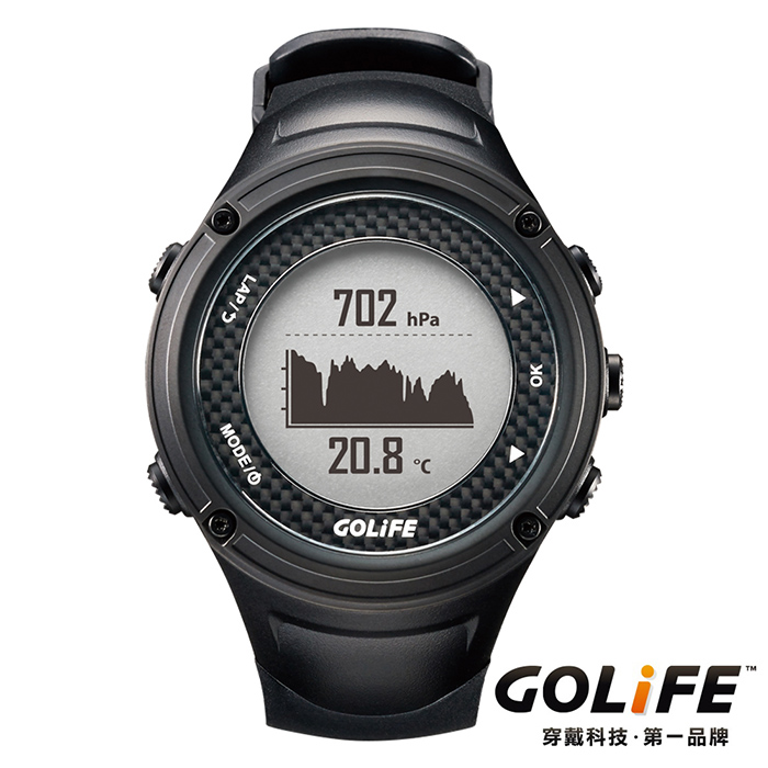 GOLiFE GoWatch X-PRO 全方位智慧戶外運動GPS腕錶(by PAPAGO)-黑色 ★降價1000再送好禮↘送旅行收納盥洗包★