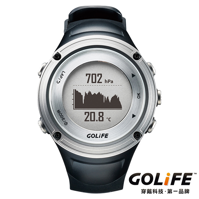 GOLiFE GoWatch X-PRO 全方位智慧戶外運動GPS腕錶(by PAPAGO)-銀色★降價1000再送好禮↘送旅行收納盥洗包★