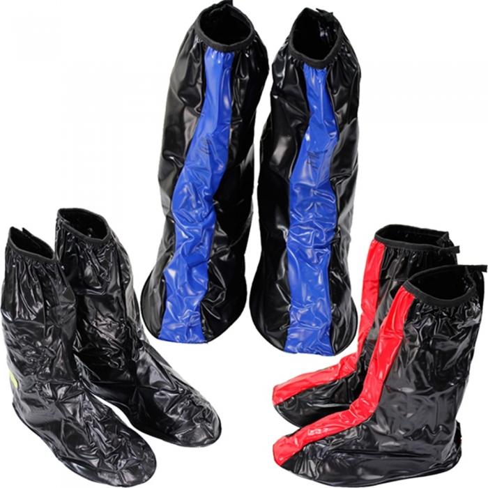 天龍牌超跑賽車型雨鞋套全黑M