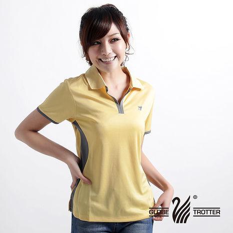 【遊遍天下】女款時尚休閒抗UV吸濕排汗機能POLO衫MS009黃2L