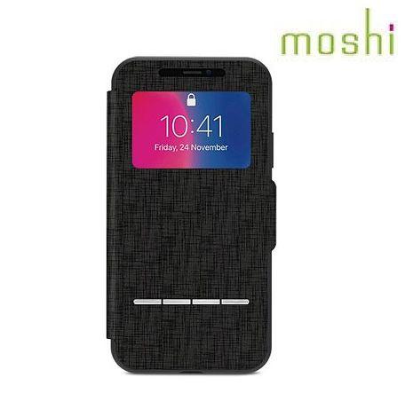 moshi iPhone X 感應式皮套 - 黑