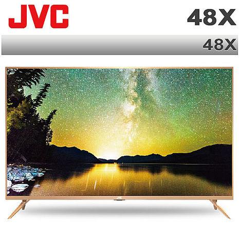 JVC 48吋 4K UHD智慧聯網液晶顯示器(視訊盒另購)(48X)*送HDMI線+3C拭淨布