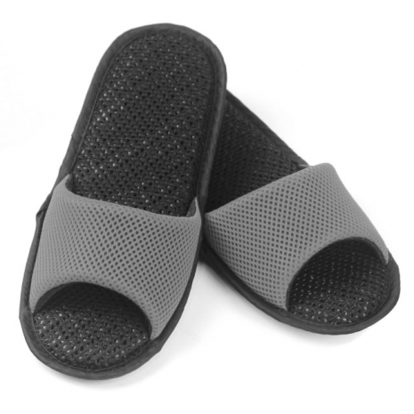 AC Rabbit 開口型低均壓氣墊拖鞋(馬卡龍色系)-古典灰S