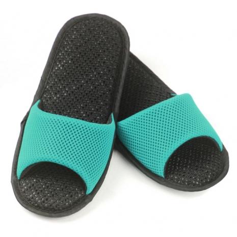 AC Rabbit 開口型低均壓氣墊拖鞋(馬卡龍色系)-湖水綠S