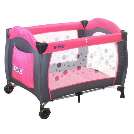 EMC 嬰幼兒安全遊戲床(幸福紅)