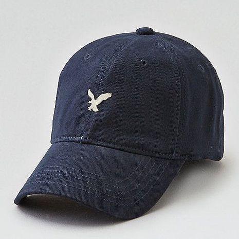 【American Eagle 】2017男時尚小老鷹刺繡深藍色棒球帽★預購S/M