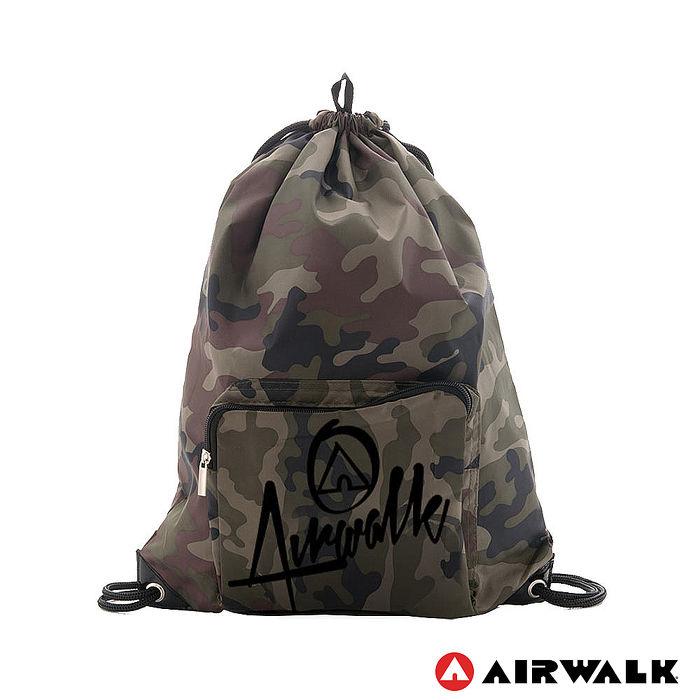 AIRWALK - 樂活城市系列 第二代尼龍束口後背包 - 迷彩