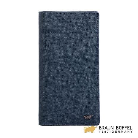 【BRAUN BUFFEL】洛非諾III系列窗格長夾 -午夜藍 BF314-300-MAR