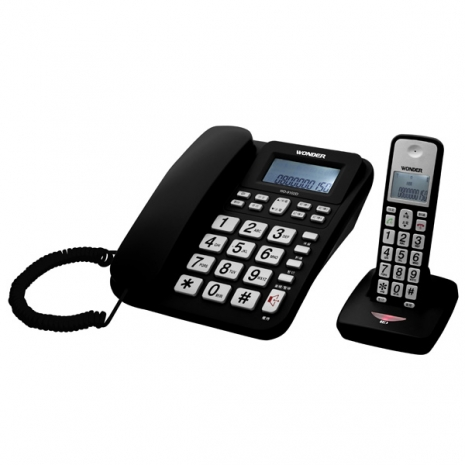 WONDER旺德 2.4G高頻數位無線電話 WD-9102D(黑)