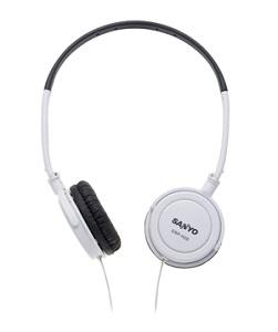 SANYO三洋 立體聲頭戴式折疊耳機ERP-H28(白色)