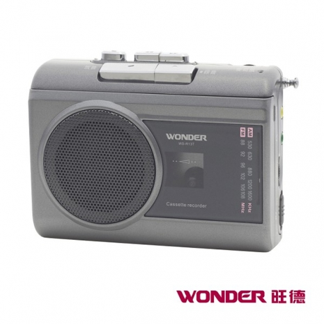 WONDER旺德 AM/FM 卡式錄音機 WS-R13T 鐵灰色