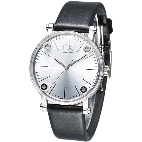 cK 科技透視鏡面造型時尚女錶-白K3B231C6