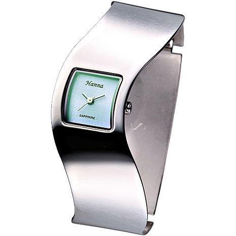 Hanna 時尚俏佳人摩登女錶-珍珠淺綠