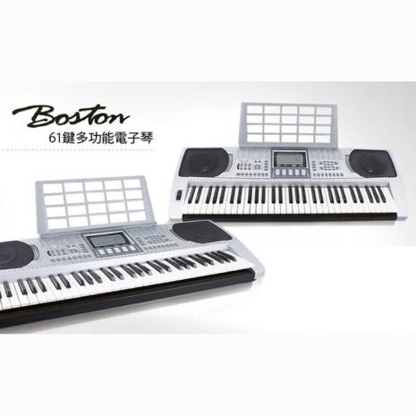 【BOSTON】 BSN-250 標準61鍵可攜式電子琴+電子琴椅+單叉琴架(BSN250)