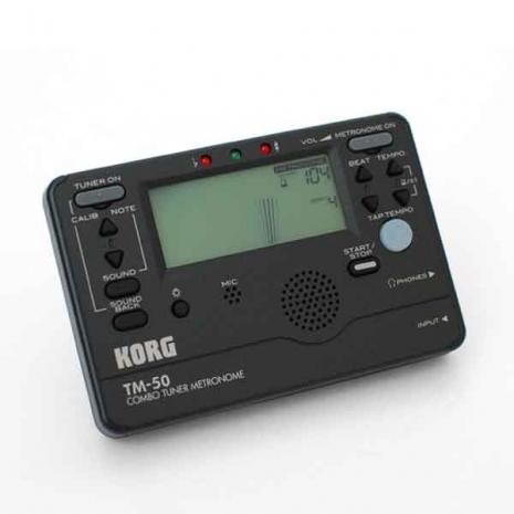 【KORG】TM-50『黑色』電子調音節拍器(TM50) 總代理原廠公司貨『吉他,貝斯,弦樂,管樂,烏克麗麗皆適用』