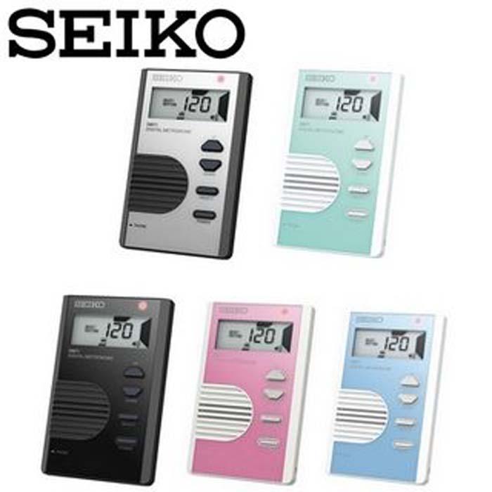 【SEIKO】DM-71 液晶顯示名片型 電子節拍器(DM71)粉紅色