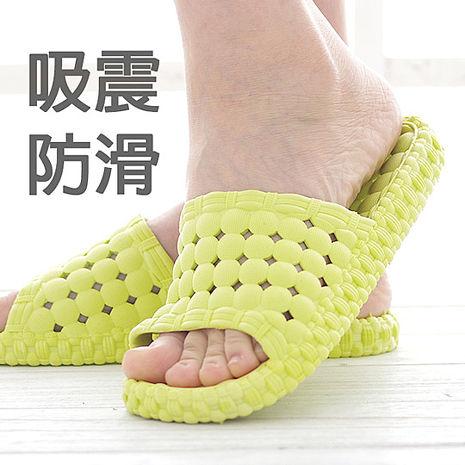 韓版超柔浴室瀝水防滑拖鞋 (女款)- 1雙入天藍色-M (38-39)